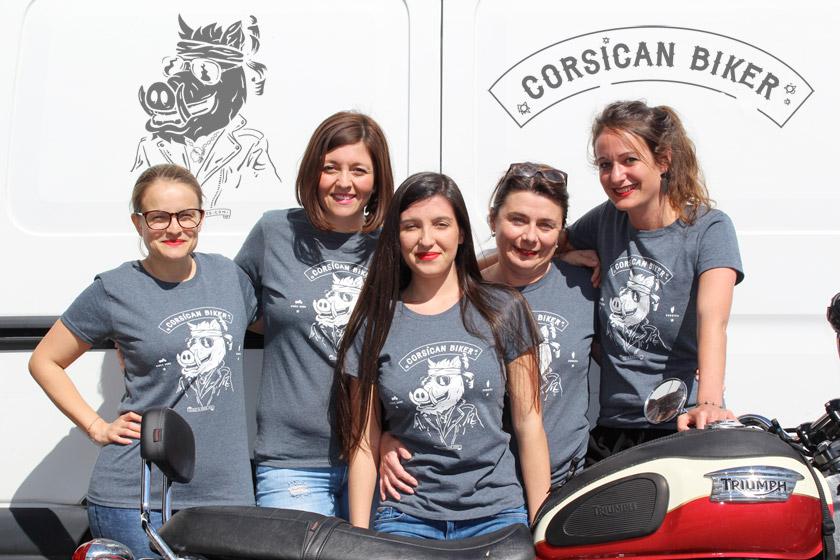 T-shirt Corsican Biker femmes