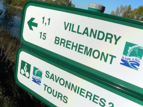 Loire à Vélo panneau routier